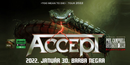 2022-ben Accept, Phil Campbell and the Bastard Sons, Flotsam & Jetsam a Barba Negra klubban<br><small><small><small>